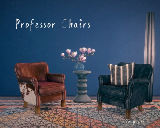 Sims 4 Professor chair by Pocci at Garden Breeze Sims 4