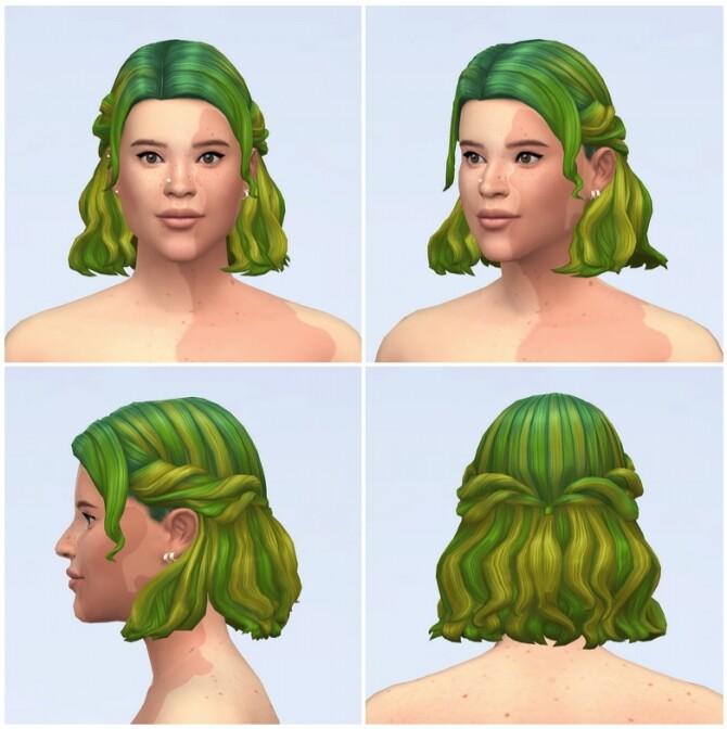 Half up Braid Hair Edit (Ombré) at Rusty Nail image 1655 670x672 Sims 4 Updates