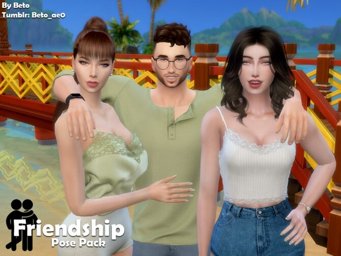 Friendship Pose Pack by Beto ae0 at TSR image 1660 670x503 Sims 4 Updates