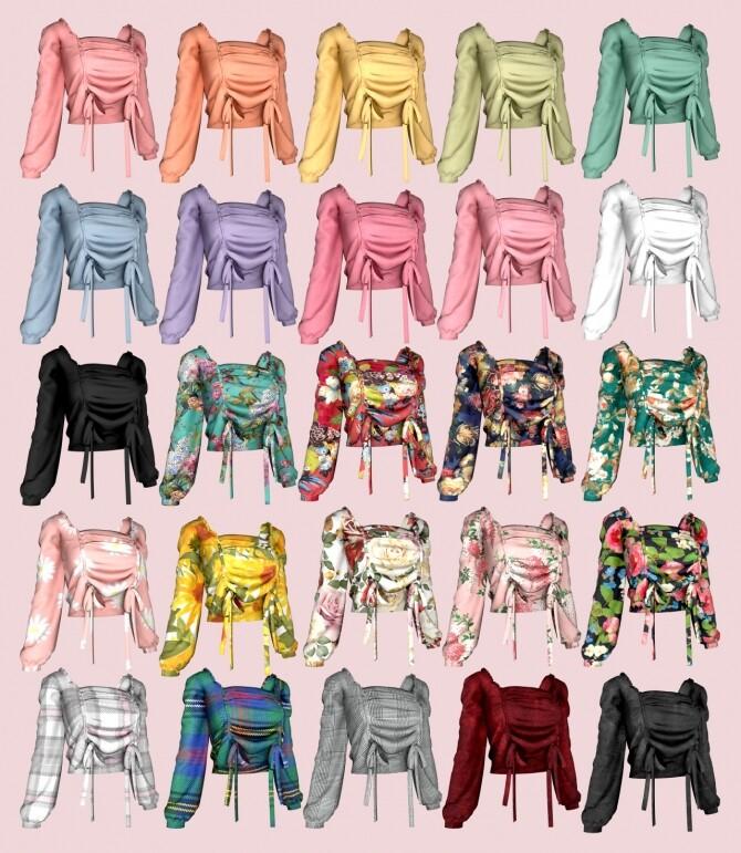 Floral Blouse & Denim Capri Pants at RIMINGs image 1661 670x771 Sims 4 Updates
