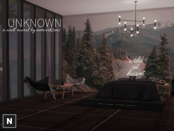 Sims 4 Unknown wall mural by networksims at TSR