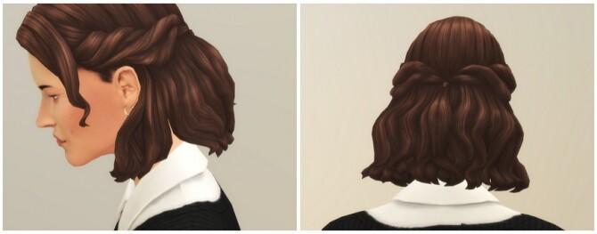 Sims 4 Half up Braid Hair Edit at Rusty Nail