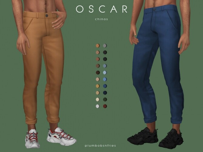 Sims 4 OSCAR chinos by Plumbobs n Fries at TSR