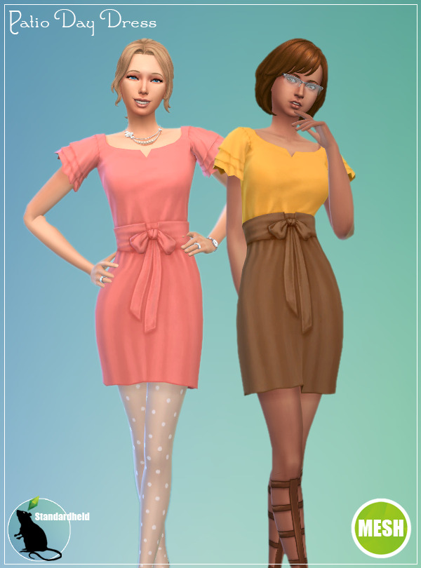 Sims 4 3to4 Patio Day Dress Recolor at Standardheld
