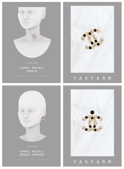 19 Prefall Collection: Brooch & Earrings at Yakfarm image 1764 Sims 4 Updates