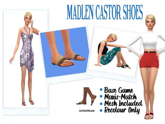 Sims 4 MADLEN'S CASTOR SHOES RECOLOR at Sims4Sue