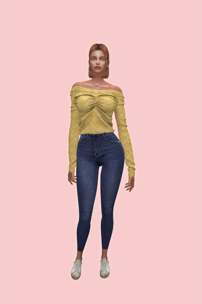 Off shoulder top at L.Sim image 1787 667x1000 Sims 4 Updates