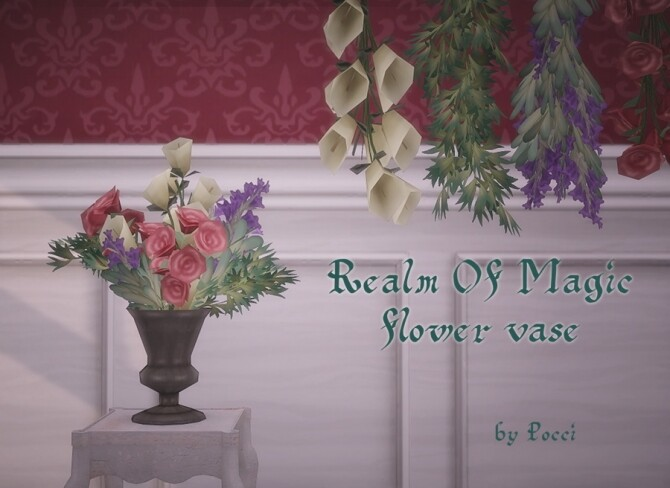 Sims 4 Realm Of Magic flower vase by Pocci at Garden Breeze Sims 4