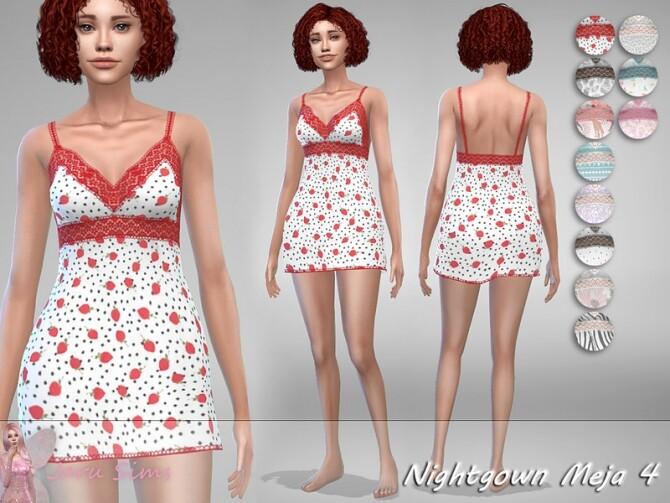 Sims 4 Nightgown Meja 4 by Jaru Sims at TSR