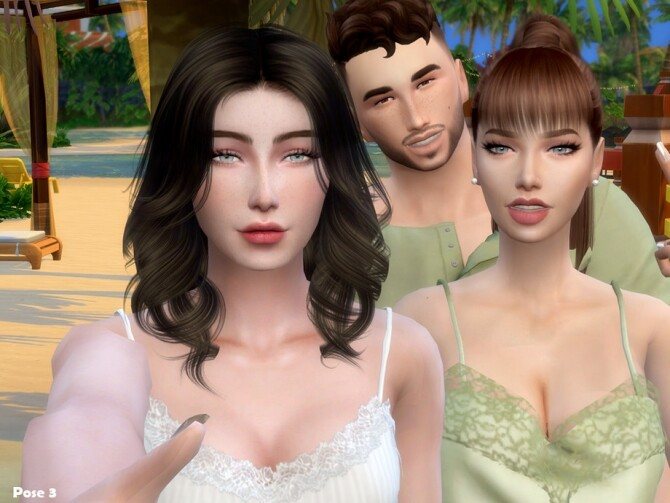 Friendship Pose Pack by Beto ae0 at TSR image 1840 670x503 Sims 4 Updates