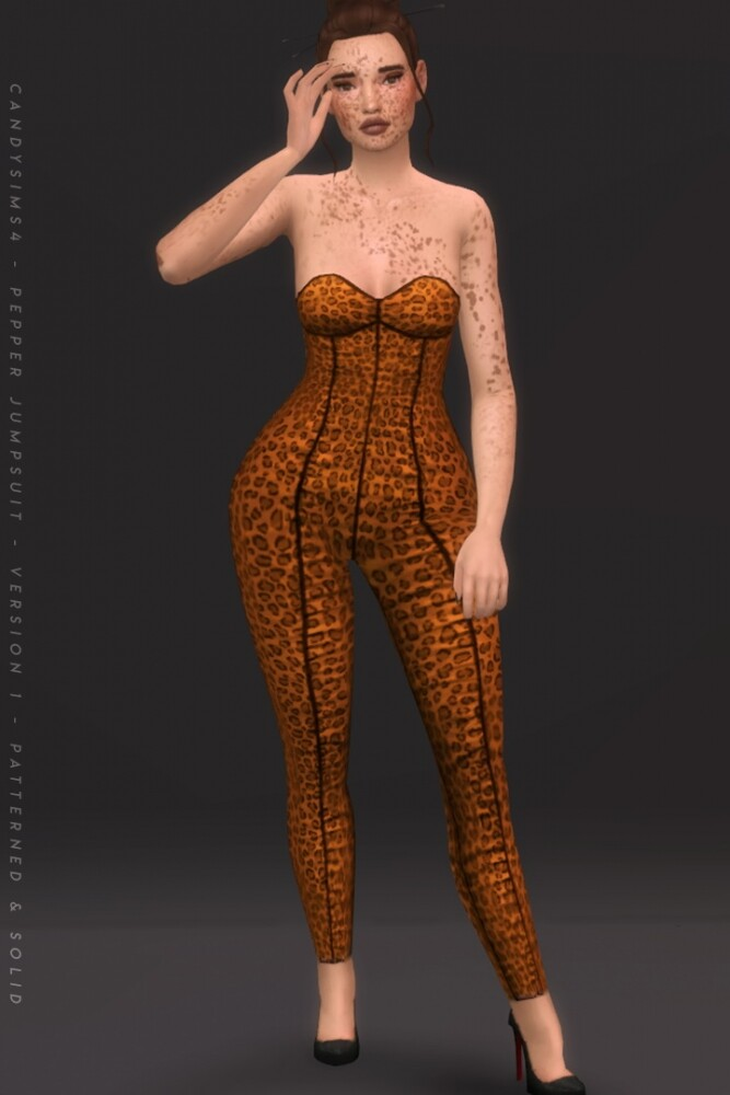 Sims 4 PEPPER JUMPSUIT at Candy Sims 4