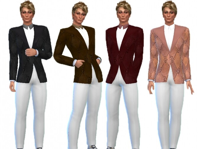 Sims 4 Leather Suit by TrudieOpp at TSR