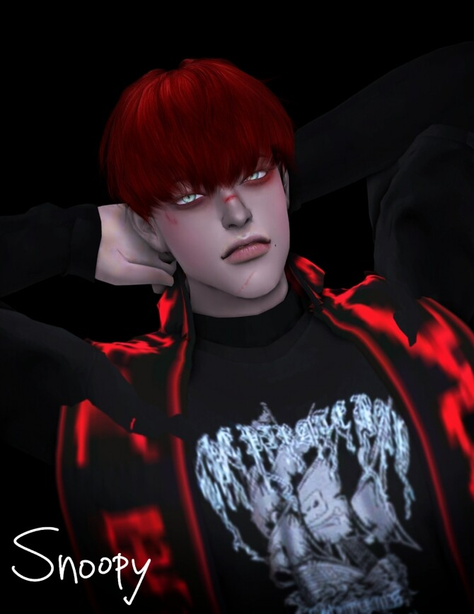 Sims 4 Monster LOEY hair at SNOOPY