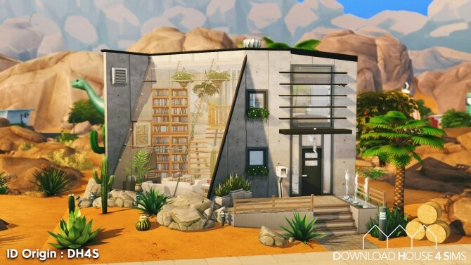 Sims 4 Desert Industrial House at DH4S