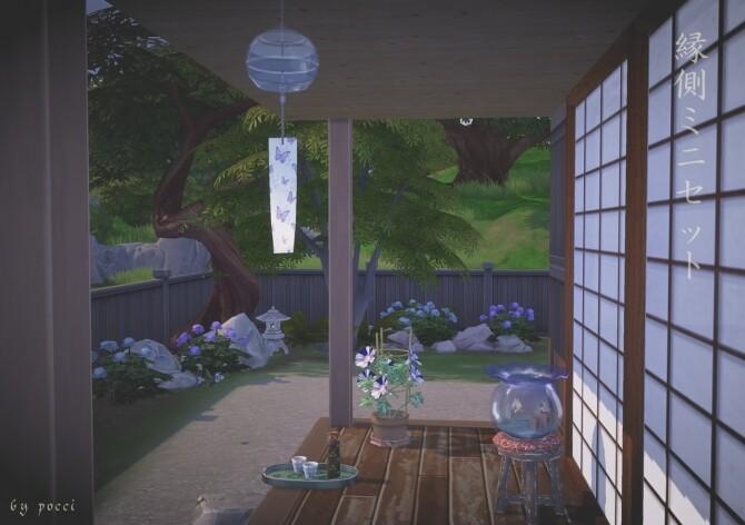 Sims 4 Engawa mini set by Pocci at Garden Breeze Sims 4