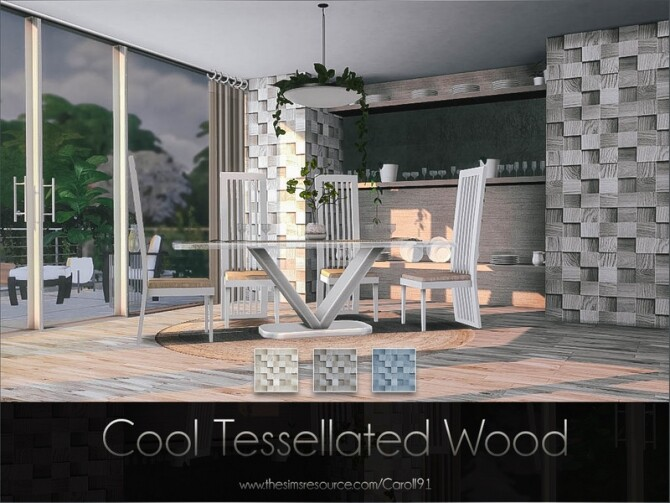 Sims 4 Cool Tessellated Wood by Caroll91 at TSR