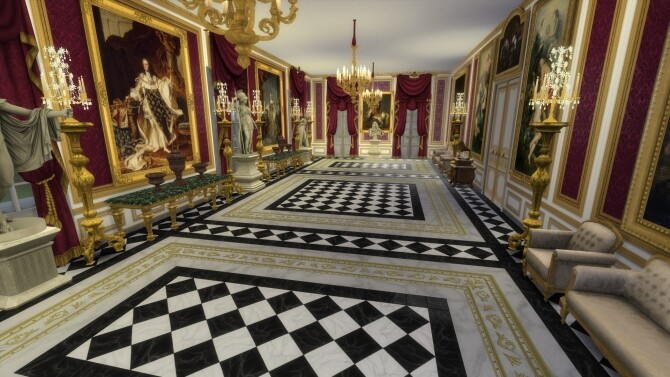 Sims 4 Check Mate! Marble Flooring Add Ons by TheJim07 at Mod The Sims