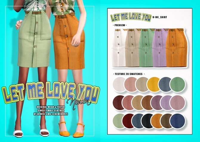 Sleeveless frill top, skirt and dress at NEWEN image 1955 670x477 Sims 4 Updates