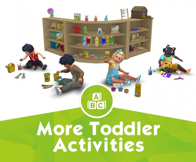 Sims 4 More Toddler Activities by Sandy at Around the Sims 4