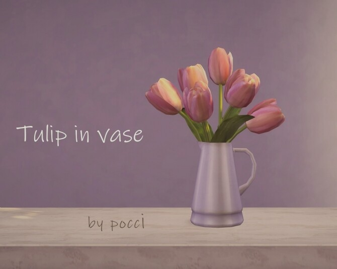 Tulip in vase by Pocci at Garden Breeze Sims 4 image 199 670x534 Sims 4 Updates