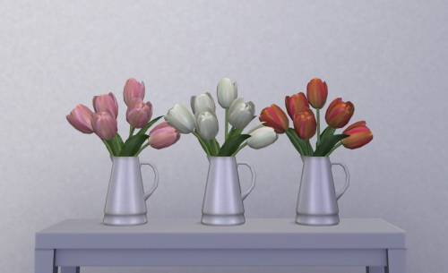 Tulip in vase by Pocci at Garden Breeze Sims 4 image 200 Sims 4 Updates