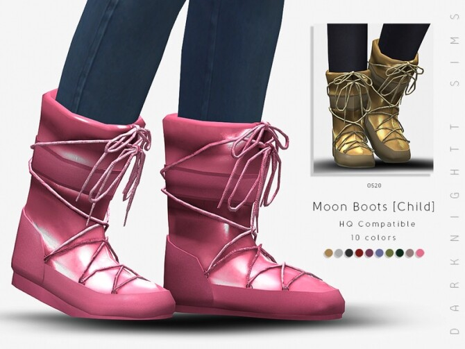 Moon Boots Child by DarkNighTt at TSR image 2004 670x503 Sims 4 Updates