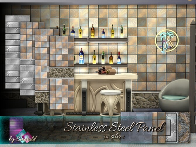 Stainless Steel Panel by emerald at TSR image 2035 670x503 Sims 4 Updates