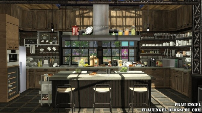 Sims 4 Sea Wolf loft two versions at Frau Engel