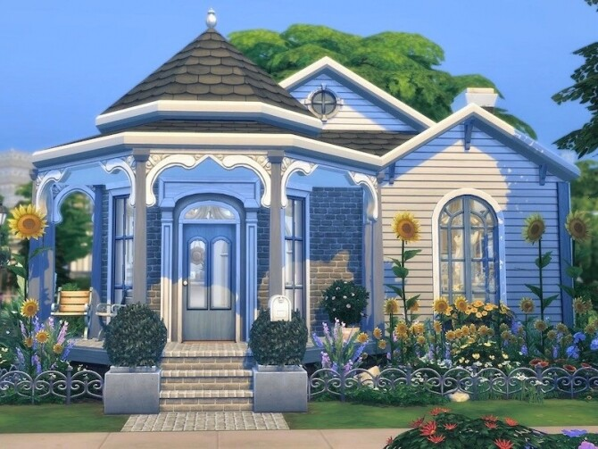 Sims 4 Sunflower Victorian home by Simsational Builds at TSR