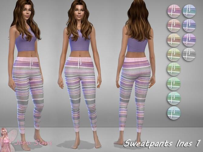 Sims 4 Sweatpants Ines 1 by Jaru Sims at TSR