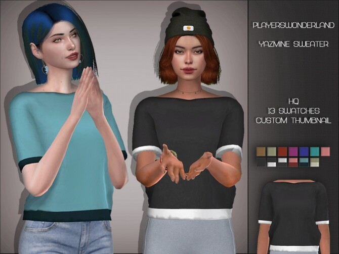 Yazmine Sweater by PlayersWonderland at TSR image 2114 670x503 Sims 4 Updates
