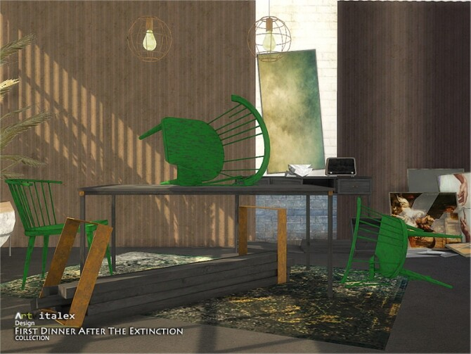 Sims 4 First Dinner After The Extinction by ArtVitalex at TSR