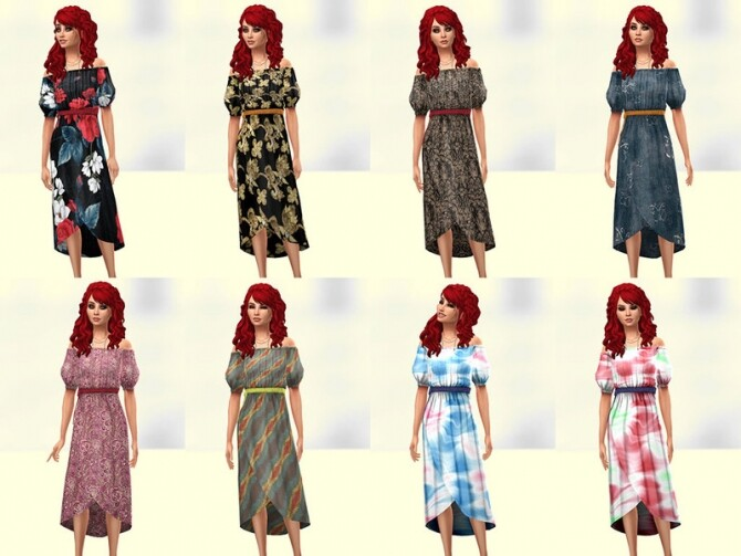 Bota dress 2 by Delise at TSR image 2136 670x503 Sims 4 Updates