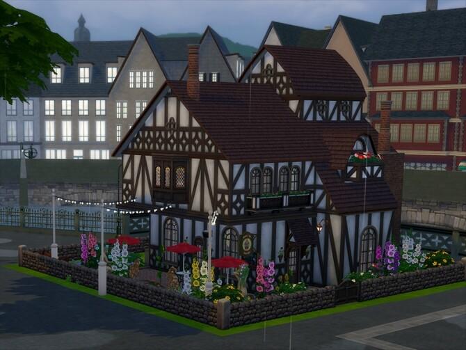 Sims 4 Dainty Dove Tavern by xwolfxboundx at TSR