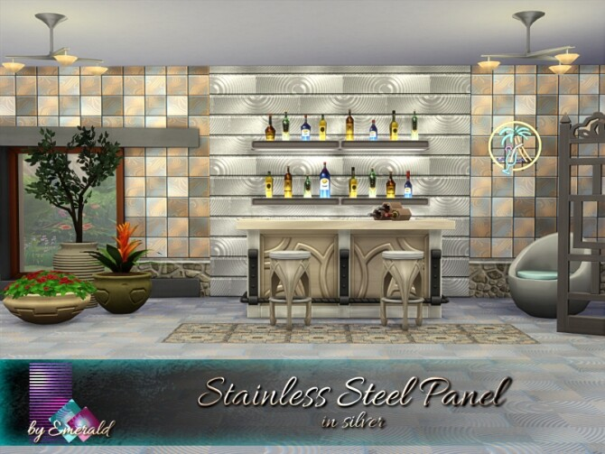 Stainless Steel Panel by emerald at TSR image 2150 670x503 Sims 4 Updates