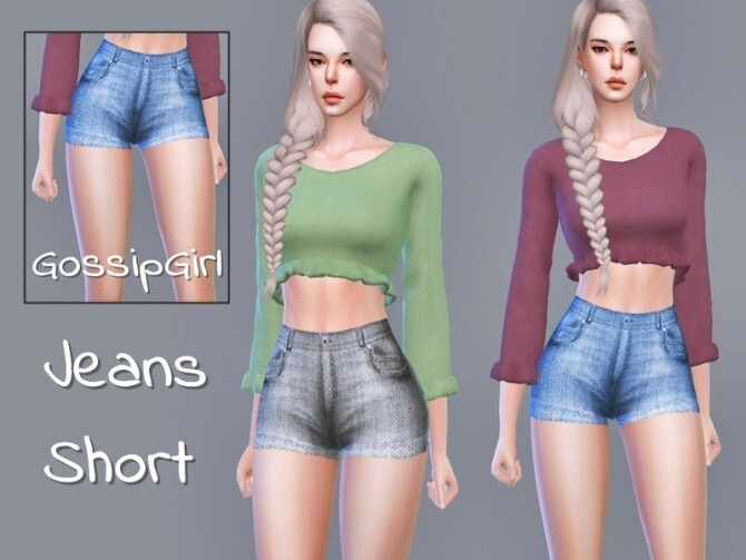 Sims 4 Jeans Short by GossipGirl S4 at TSR