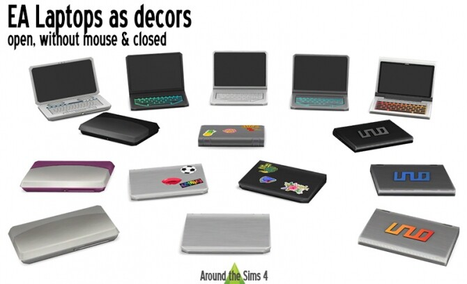 Sims 4 EA laptop decorative by Sandy at Around the Sims 4