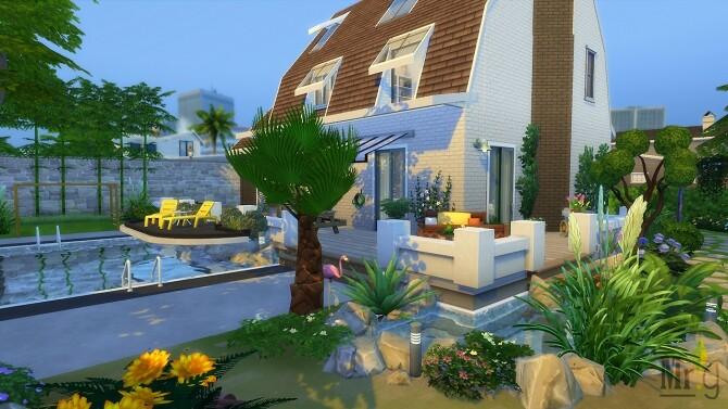 Sims 4 Baccara Base Game Suburban House at Mister Glucose