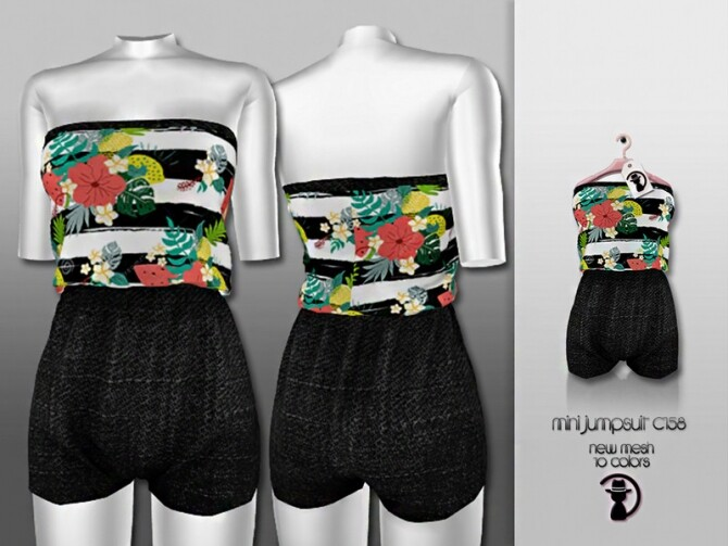 Mini Jumpsuit C158 by turksimmer at TSR image 2252 670x503 Sims 4 Updates
