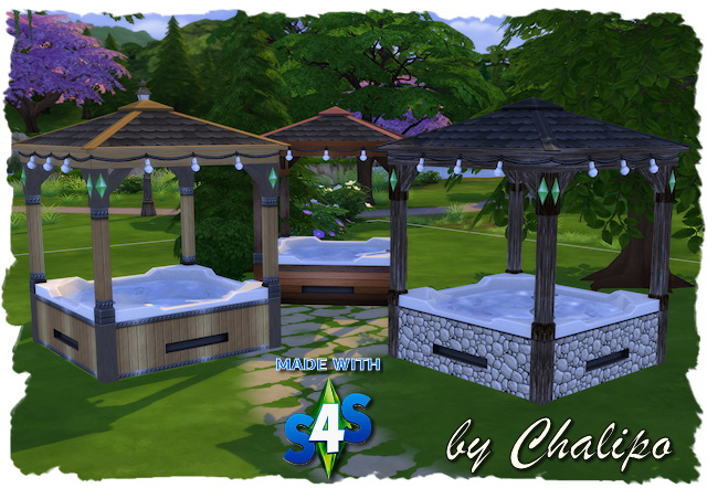 Hot Tube with roof by Chalipo at All 4 Sims image 2271 Sims 4 Updates