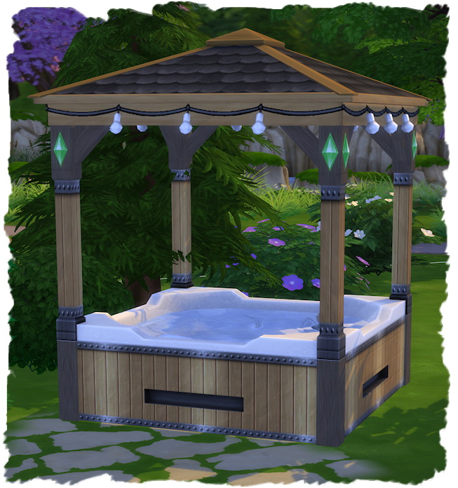 Hot Tube with roof by Chalipo at All 4 Sims image 2281 Sims 4 Updates