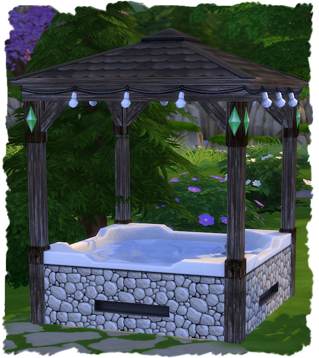 Hot Tube with roof by Chalipo at All 4 Sims image 2301 Sims 4 Updates