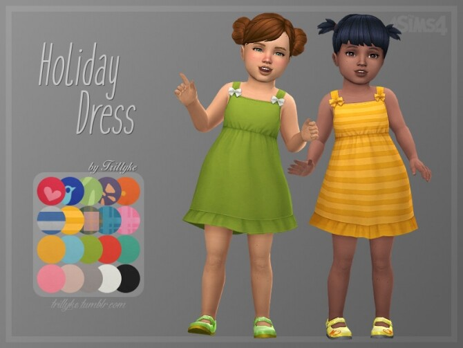 Sims 4 Holiday Dress by Trillyke at TSR
