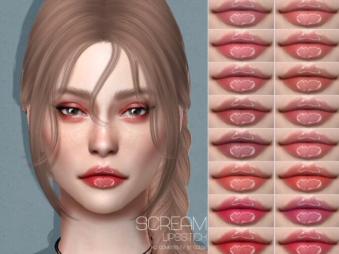Sims 4 LMCS Scream Lipstick by Lisaminicatsims at TSR