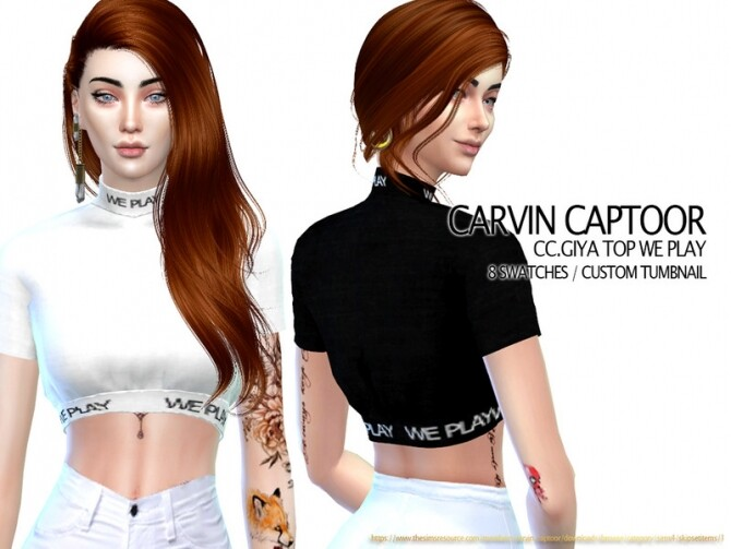 Sims 4 Giya Top We PLay by carvin captoor at TSR