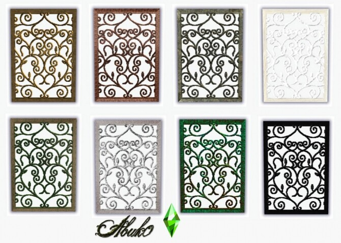 Wrought Iron Beds and Windows & Window + Door at Abuk0 Sims4 image 2391 670x478 Sims 4 Updates