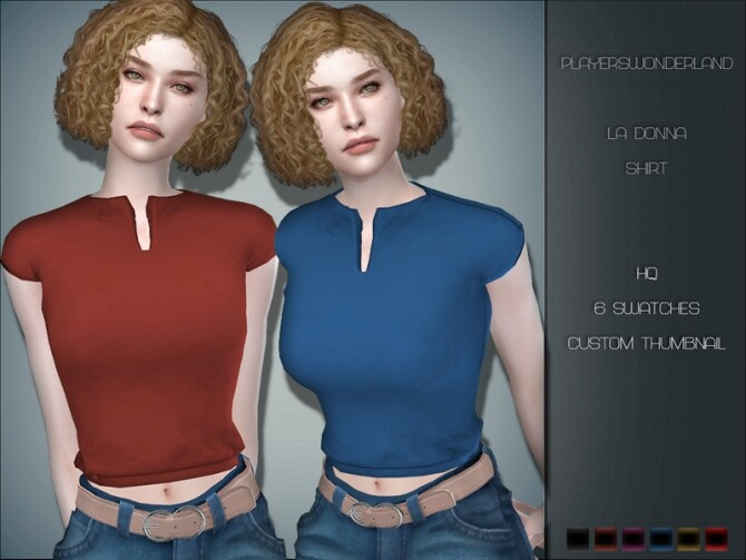 Sims 4 La Donna Shirt by PlayersWonderland at TSR