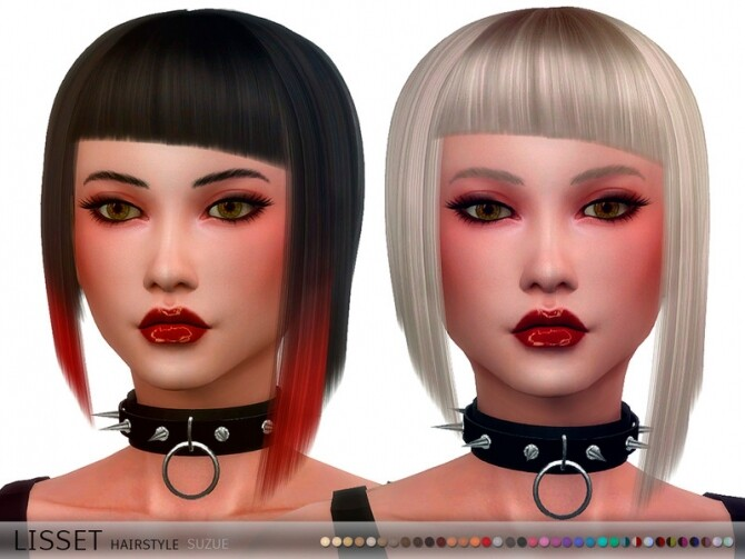 Sims 4 Lisset Hairstyle by Suzue at TSR