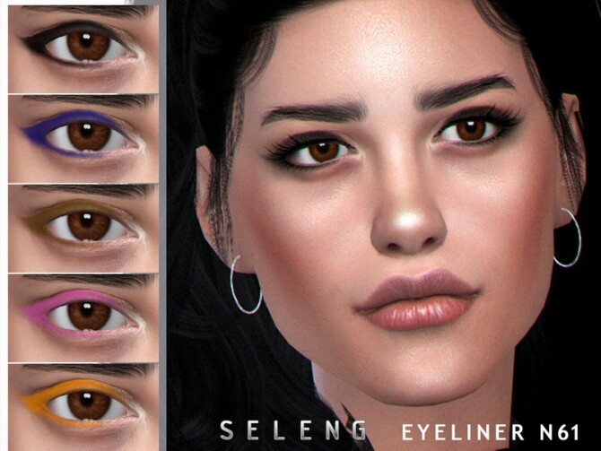 Sims 4 Eyeliner N61 by Seleng at TSR