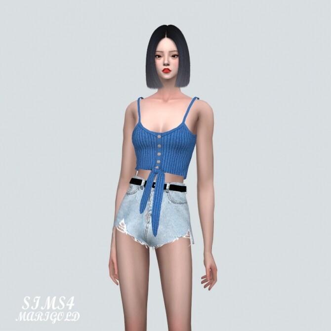 Sims 4 Tied Knit Sleeveless Top at Marigold